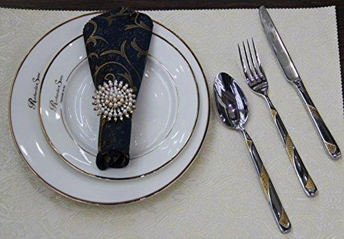 ZHFC salle hotel accueil modèle maison nourriture occidentale décoration fourchette plus cuillère serviette serviette tableau mat fixé fixé fixé fixé,serviette repas boucle tournesol