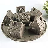 6 casas de la cavidad forman el molde del pan de la torta del silicón molde de la hornada del caramelo de la jalea del chocolate