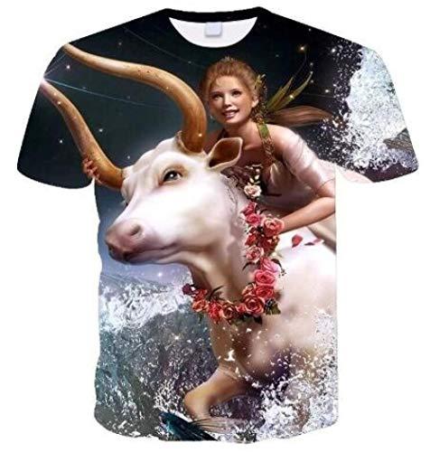 Pack Unisex Cotton Lightweight Baseball Raglan Shirt Half SleevePrinted Animal Wolf personality-15120_XL