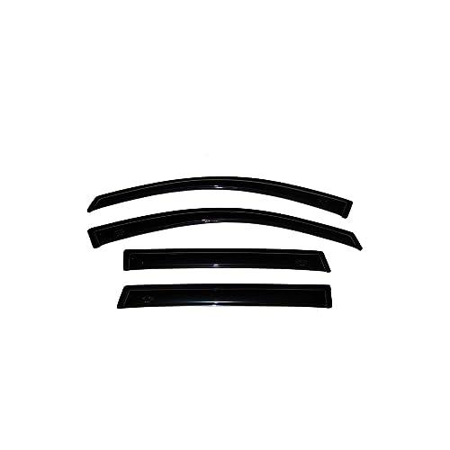 Auto Ventshade 94109 Original Ventvisor Side Window Deflector Dark Smoke, 4-Piece Set for 2009-2018 Dodge 1500 Crew Cab, 2010-2018 Ram 2500 & 3500 w/Crew & Mega Cab; 2019 Ram 1500 Classic Crew Cab