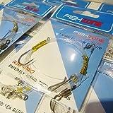 Fishzone Rig Pro Series–10paquets de simple type de qualité commerciale...