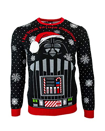 Official Star Wars 'I Am Your Father' Darth Vader Christmas Jumper/Ugly Sweater UK L/US M