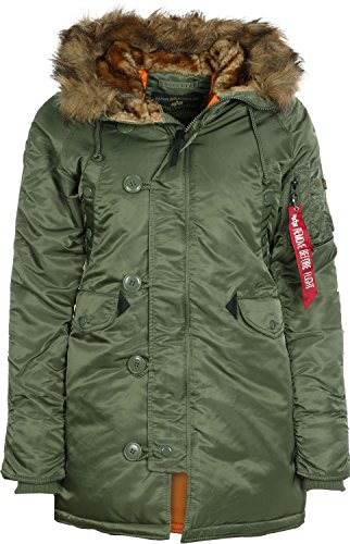 ALPHA INDUSTRIES Damen N3B VF 59 Wmn Jacke, Sage-Green, S