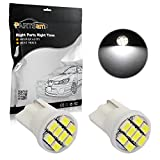 2006 Ford Freestyle License Plate Light Bulbs - Partsam 2pcs T10 194 168 LED Bulbs White Rear License Plate Lights/Interior Dome Map Reading Lamps Car Trunks 8-3020-SMD 12V