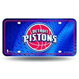 Rico Industries MTG88001 NBA Detroit Pistons Metal License Plate Tag,Team Color,12' x 6'