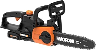 Worx WG322 20V Power Share Cordless 10-inch Chainsaw with Auto-Tension