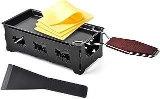 Tostadores queso prácticos, Mini Cheese Grill antiadherente Bandeja de horno Mantequilla Queso Barbacoa plato, herramientas de uso doméstico barbacoa para hornear,Negro,S