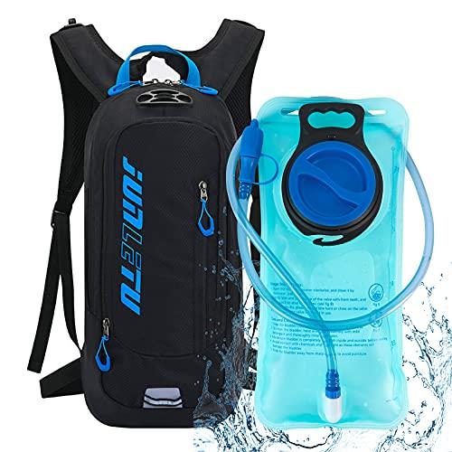 FENRIR Trinkrucksack, Trinkrucksack mit 2 Liter Trinkblase, 18L Leichter Kleiner Fahrrad Rucksack für Laufen, Wandern, Reiten, Camping, Radfahren, Klettern, für Damen und Herren
