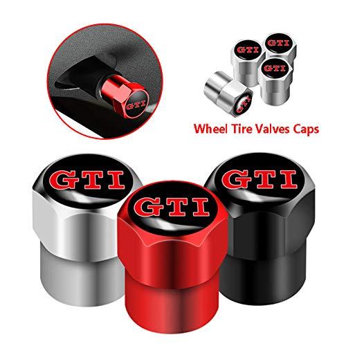 4 unids aluminio de la válvula de rueda de neumáticos de la válvula de la rueda de las tapas para for V W GTI G olf 4 5 6 7 8 MK4 MK5 MK6 GTD Polo Scirocco fit for Jetta Beetle for P a s s a t for TIG