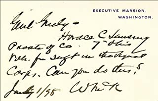 President William Mckinley - Autograph Note On White House Card Signed 07/01/1898
