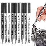 Precision Black Micro-Pen Fineliner Ink Pens, Waterproof Archival Ink Micro-Line Pens, Illustration Pens, Multiliner Pens for Art Watercolor, Sketching, Anime, Manga,