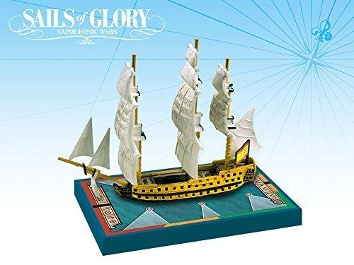 Sails of Glory: Additional Ship Mats Juan Nepomuceno 1766 / San Francisco de Asis 1767: Paquete de Velas de la Gloria, Multicolor (Aries Games ARESGN112A)