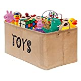 Gimars Contenedor de canasta grande para juguetes Caja de almacenamiento plegable sin tapa Organizadores juguetes niños en yute(22 pulgadas)