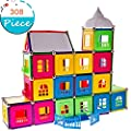 JJZXZQ Magnetic Building Blocks Tiles STEM Toy Set 308PC, Kids Learning Educational Construction Toys, Gift for Boys Girls Present Age 3-10 Year Old