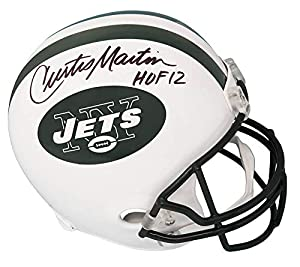 Curtis Martin Signed New York Jets Riddell Full Size Replica Helmet w/HOF'12 - Schwartz Authentic