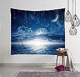 Yhjdcc Japaner Ukiyo-E Moon Mond Wandtuch Dekoration Tapisserie Wandtuch Leinwand Foto Hintergr& Tuch Tapisserie 150cmx200cm