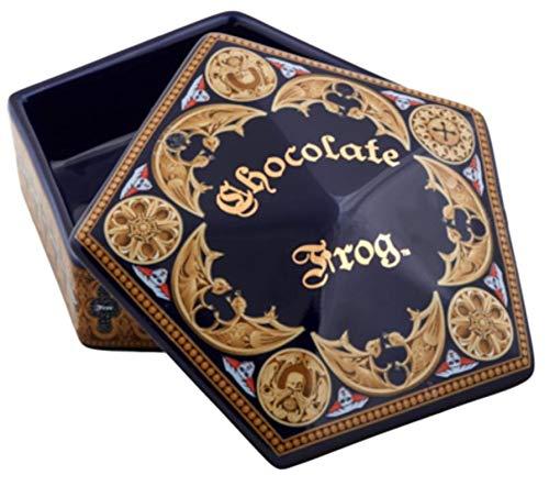 Estudios Universal Magos World of Harry Potter Chocolate Diseño de rana de cerámica Trinket Box
