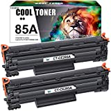 Cool Toner Compatible Toner Replacement for HP 85A CE285A Toner Cartridge Use for HP LaserJet Pro P1102w P1102 1102w Toner Cartrdge HP Laserjet Pro M1212nf MFP P1102w Ink Cartridge (Black, 2-Pack)