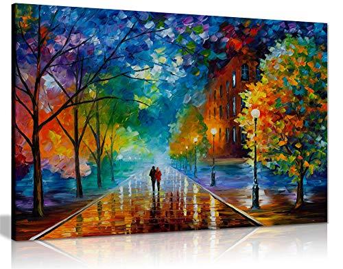 Leonid Afremov Ölgemälde auf Leinwand, abstrakt, für Wohnzimmer, Heimdekoration, Freshness of Cold, 61x41 cm (24x16in)