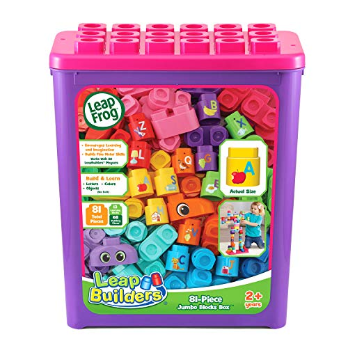 LeapFrog LeapBuilders 81-Piece Jumbo Blocks Box, Great Gift for Kids, Toddlers, Toy for Boys and Girls, Ages 2, 3, 4, 5