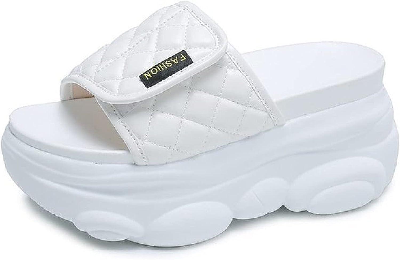 Height Increasing Slide Sandals for Women Casual Trend Candy Color Comfy Hook-Loop Adjustable Platform Slides