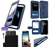 CAMPUS TELECOM Etui Housse Pochette Coque Bleu Blue Universelle Compatible pour KLIPAD V356 4G LTE (5' Pouces ecran18:9)