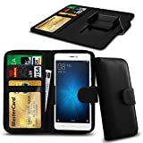 N4U Online® Black Clip On Series PU Leather Wallet Book