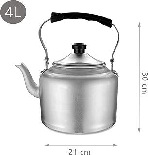 FLAMEER Acier Inoxydable Sifflet Bouilloire Cuisine//Maison Camping Gazini/ère Plaqu/é Argent 4//5 4L 6L