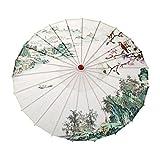 Sombrilla de seda vintage para mujer con mango de madera #Lr3 d CHINA