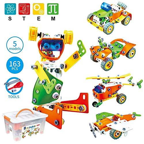 Moontoy Bloques de Construcción, Aprendizaje Juguetes Juegos de Construcción Engineering Educativa para Niños, Creativa Mejor Regalo de Juguete para Niños de 5 6 7 8 9 años o más Niños y Niñas