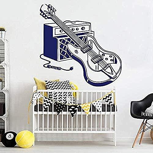 Vinilo Guitarra Eléctrica Instrumento Musical Calcomanía De Pared Decoración Rock Music Tool...