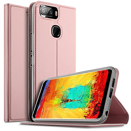 iBetter Leagoo S8 Pro Hülle, Leagoo S8 Pro Flip Bookstyle Kompletter Hüllen Mit Magnetverschluss & Standfunktion Tasche Etui Hüllen Schutzhülle für Leagoo S8 Pro Smartphone (Rose Gold)