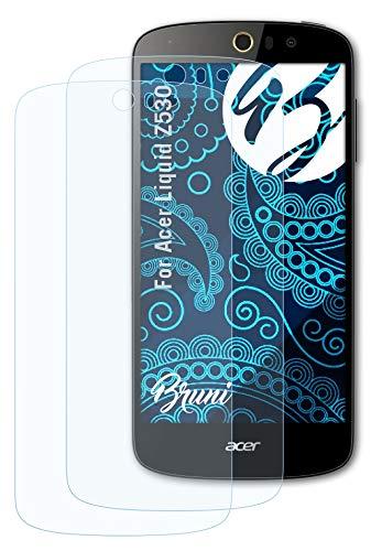 Bruni Schutzfolie kompatibel mit Acer Liquid Z530 Folie, glasklare Bildschirmschutzfolie (2X)