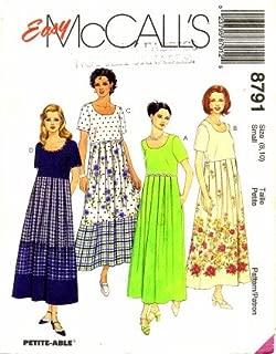 pleated bust dress pattern