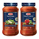 BARILLA Premium Pasta Sauce Variety Pack Tomato & Basil and Traditional Tomato, 24 Ounce Jar (Pack of 4) - No Added Sugar, Artificial Colors, Flavors, or Preservatives - Non-GMO, Gluten Free, Kosher