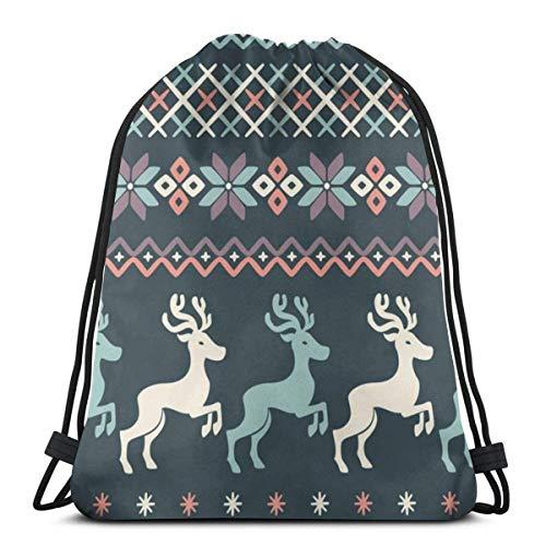 LREFON Bolsas con cordón para gimnasio, mochila, mochila de ciervo de cola blanca, bolso para almacenamiento de viaje, organizador de zapatos, botella de agua para ahorrar, niños