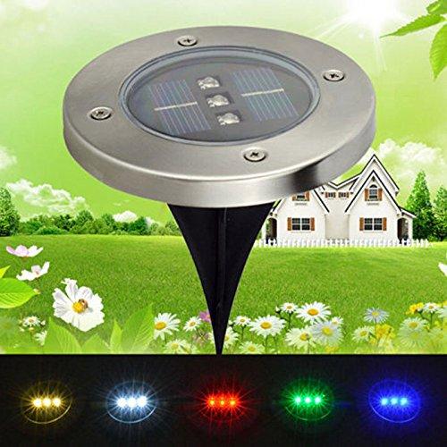 Bangweier Lampe solaire LED étanche pour jardin, allée, paysage, clôture