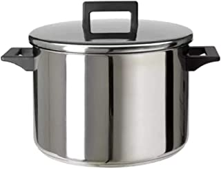 Olla con tapa de acero inoxidable, 8,5 litros, apta para lavavajillas