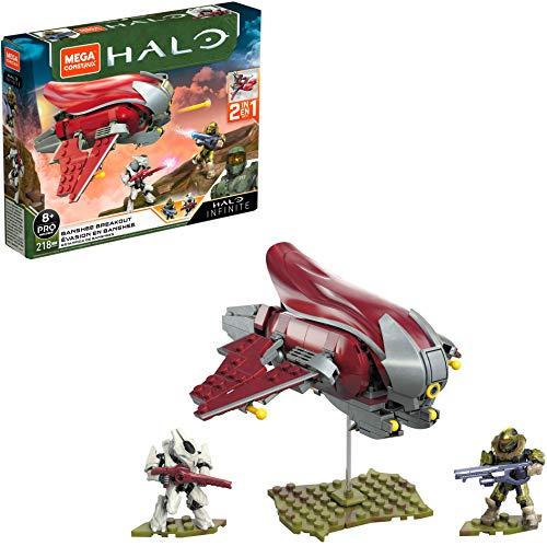 Mega Construx Halo Infinite, évasion en Banshee 2-en-1, chasseur à construire, 218 pièces, jeu de briques de construction, 8 ans et plus, GNB24