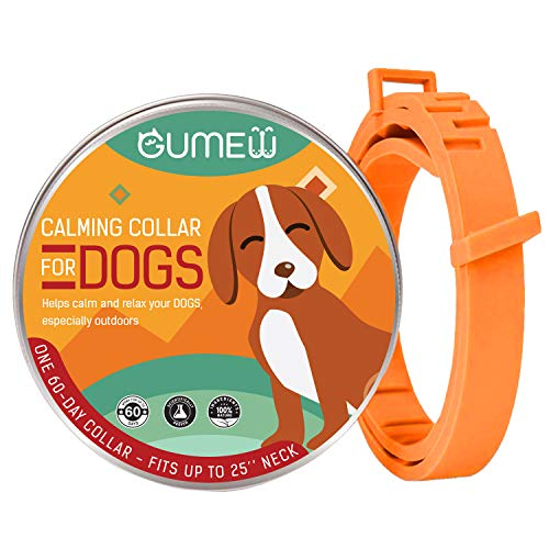GUMEW Calming Collar for Dogs - Anti Anxiety, Adjustable Pheromone Calm Collars - Fits All Small, Medium and Large Dog 2020