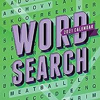 TF PUBLISHING 2021 単語検索 毎日のデスクトップボックスカレンダー イーゼル付き パズルゲーム ティアオフ 自宅/オフィスの計画に最適 5.5インチ x 5.5インチ