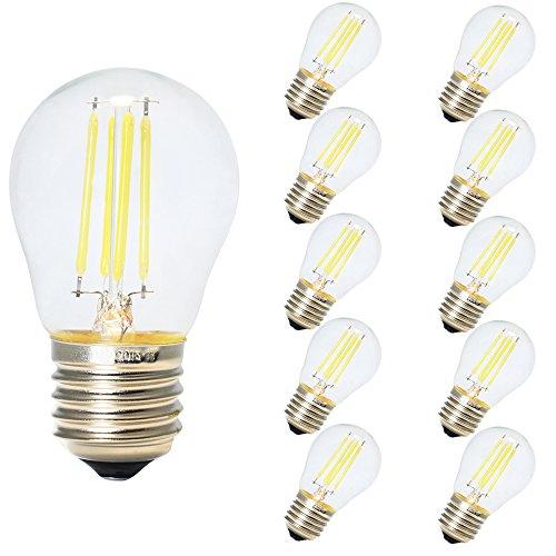 10X Vendimia LED Edison Filamento Pelota de Golf Del Bulbo G45 - Bombilla 4W Luz LED E27 - Blanco frío 6500K, Edison LED Bombilla No Regulable
