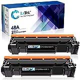LxTek Compatible Toner Cartridge Replacement for HP 48A CF248A to use with Laserjet Pro M15w M29w M16w M28w M15a M29a M16a M28a Printer,(2 Black), High Yield(with Chip)