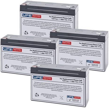 4 Fixed price for sale 6V 12Ah F2 - [Alternative dealer] UPSBatteryCenter Set Compatible SLA Battery