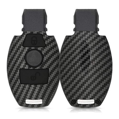 kwmobile Autoschlüssel Hülle kompatibel mit Mercedes Benz 2-Tasten Autoschlüssel (nur Keyless Go) - Hardcover...
