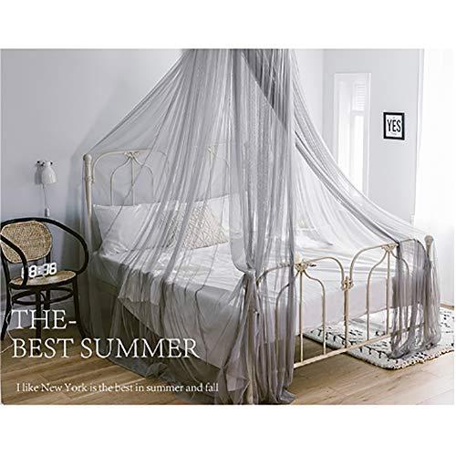 HUHD Prinzessin Baldachin Mosquito Netting,kompakt Dichtes Netz Kuppel Spitze Vorhänge Für Einfache Installation-d Queen