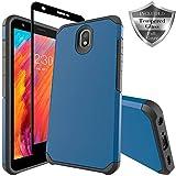 Swoders LG Escape Plus Case, LG Arena 2 Case, LG K30 2019 Case, LG X320 Case, LG Tribute Royal/LG Journey LTE Case, Heavy Duty Armor Shockproof with Screen Protector Case for LG K30 2019 - Blue