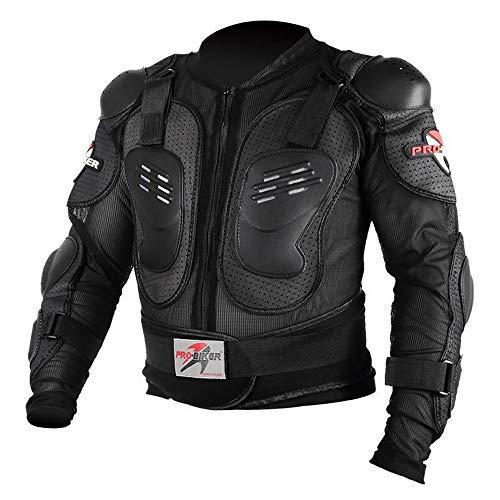 LINGKY Ropa Protectora De La Armadura Completa De La Motocicleta, Chaqueta De La Camisa Protectora Del Campo A Través Del Motocross De La Calle, Protección Trasera