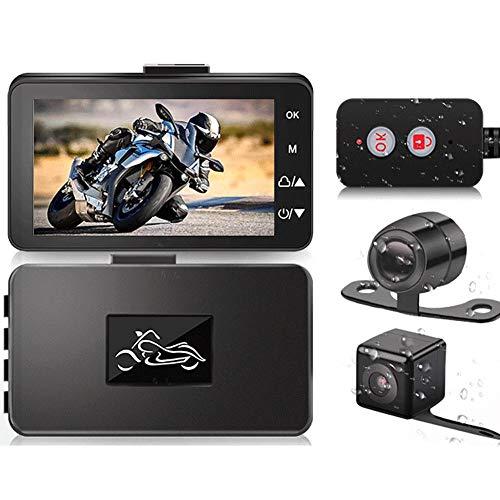 didatecar Cámara De La Motocicleta Dash CAM 3 Pulgadas 720P HD Pantalla LCD IP67 Cámara De Acción Impermeable Visión Nocturna