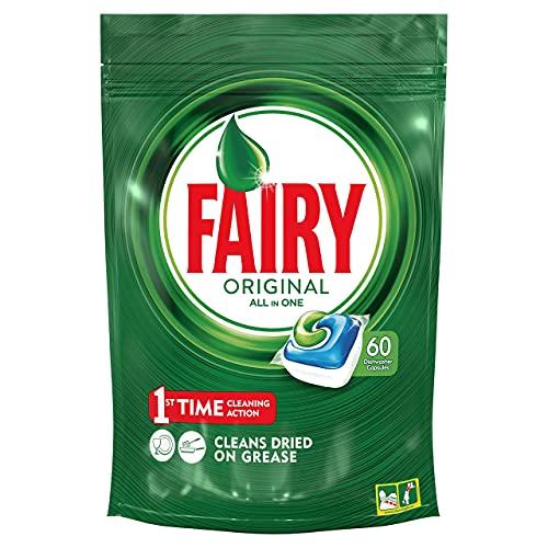 Fairy Original Todo En 1 - Cápsulas De Lavavajillas Pack De 60 Unidades